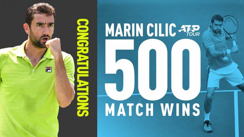 Մարին Չիլիչը կարիերայի 500-րդ հաղթանակն է տարել. նա 10-րդ գործող թենիսիտն է նման ցուցանիշով