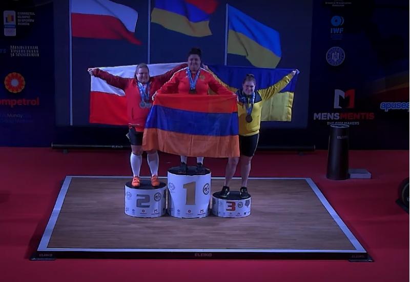 Արփինե Դալալյանը՝ ծանրամարտի Մ20 Եվրոպայի առաջնության հաղթող