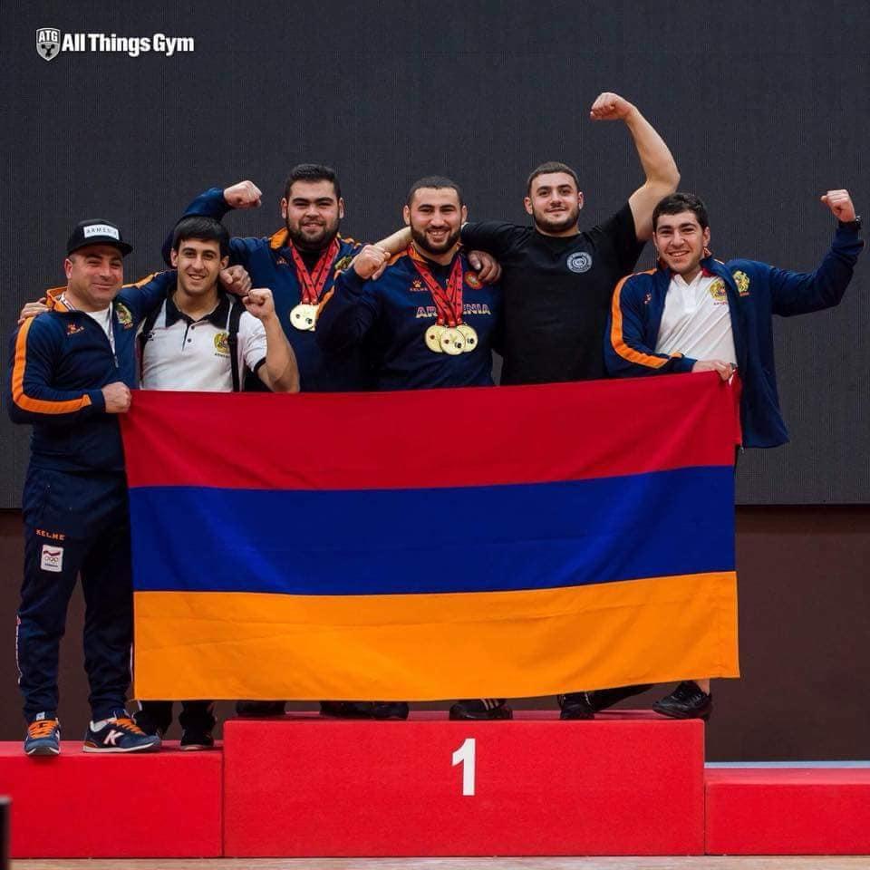 Հայաստանը թիմային հաշվարկով առաջինն է ծանրամարտի Եվրոպայի երիտասարդական առաջնությունում