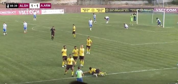 Ալաշկերտը զավեշտալի գոլի շնորհիվ հաղթեց Արարատ-Արմենիային (տեսանյութ)