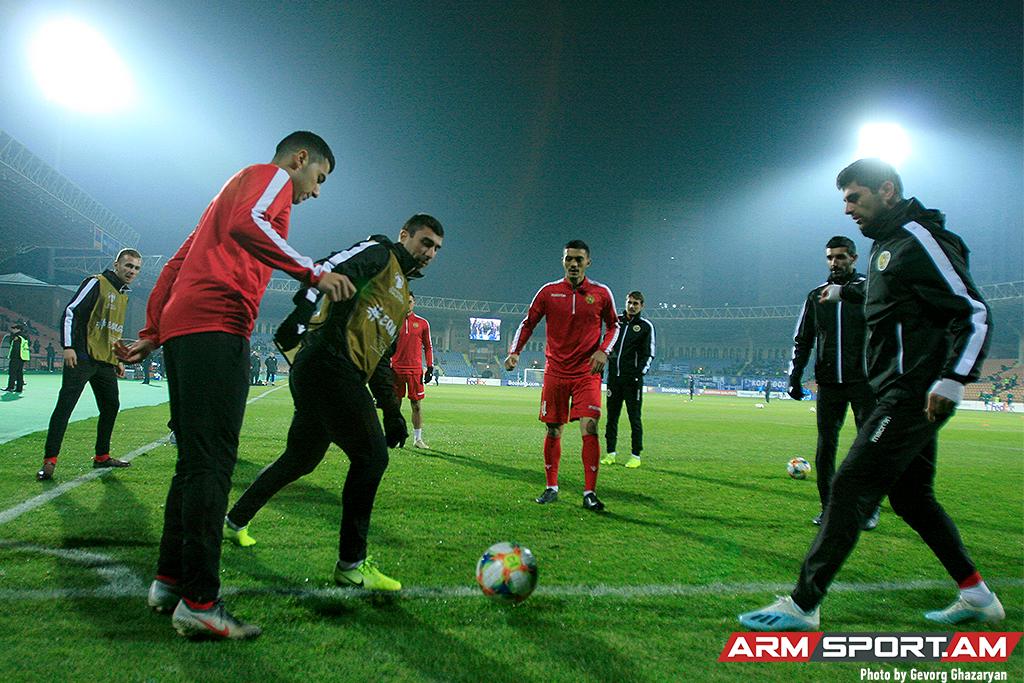 Հայաստանի հավաքականի մեկնարկային կազմը Հունաստանի հետ խաղում