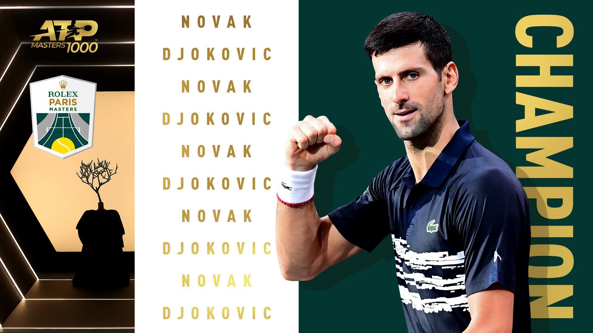 ATP-Փարիզ․ Ջոկովիչը հաղթեց Շապովալովին ու նվաճեց տիտղոսը