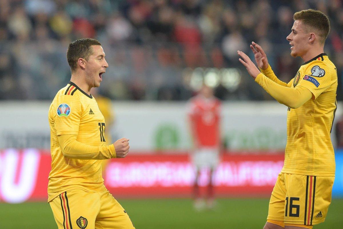 Էդեն Ազարը Բելգիայի հավաքականի պատմության լավագույն ռմբարկուների ցանկում 2-րդն է