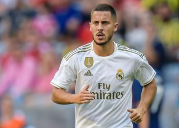 Eden Hazard of Real Madrid CF during the Pre-season Friendly match between Real Madrid and Tottenham Hotspur FC at Allianz Arena on July 30, 2019 in Munich, Germany(Photo by VI Images via Getty Images)