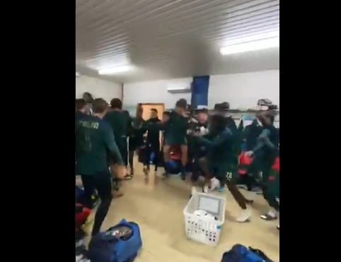 Կուտրոնեն և թիմակիցները Հայաստանին հաղթելուց հետո զվարճացել են հանդերձարանում (տեսանյութ)