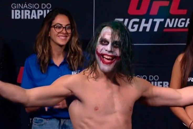 UFC-ի բրազիլացի մարտիկը կշռման է դուրս եկել Ջոկերի կերպարով (տեսանյութ)