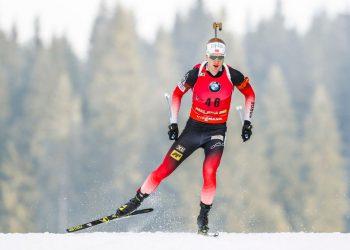 POKLJUKA, SLOVENIA - DECEMBER 6: Johannes Thingnes Boe of Norway in action during the IBU Biathlon World Cup Men's 20km on December 6, 2018 in Pokljuka, Slovenia. (Photo by Stanko Gruden/Agence Zoom/Getty Images)