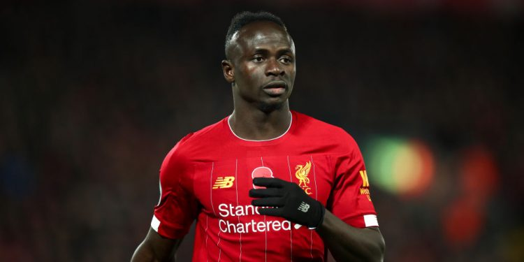 LIVERPOOL, ENGLAND - NOVEMBER 10: Sadio Mane of Liverpool during the Premier League match between Liverpool FC and Manchester City at Anfield on November 10, 2019 in Liverpool, United Kingdom. (Photo by Robbie Jay Barratt - AMA/Getty Images)