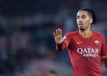Chris Smalling of AS Roma during the Serie A match between AS Roma and AC Milan at Stadio Olimpico, Rome, Italy on 27 October 2019. (Photo by Giuseppe Maffia/NurPhoto via Getty Images)