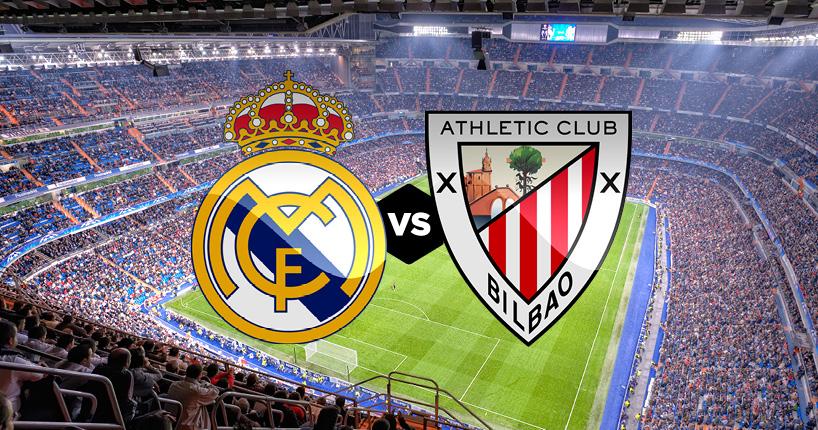 Ռեալ Մադրիդ-Ատլետիկ Բիլբաո. Մեկնարկային կազմեր, ուղիղ եթեր