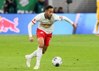 LEIPZIG,GERMANY,02.NOV.19 - SOCCER - 1. DFL, 1. Deutsche Bundesliga, RasenBallsport Leipzig vs 1. FSV Mainz 05. Image shows Matheus Cunha (RB Leipzig). Photo: GEPA pictures/ Gabor Krieg - DFL regulations prohibit any use of photographs as image sequences and/or quasi-video. - For editorial use only. Image is free of charge.