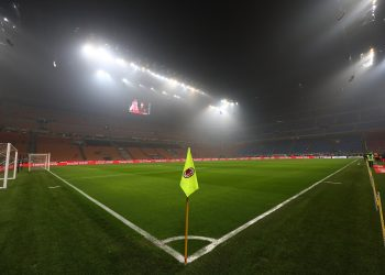MILAN, ITALY - FEBRUARY 10:  A general view of the stadium ahead of the Serie A match between AC Milan and Cagliari at Stadio Giuseppe Meazza on February 10, 2019 in Milan, Italy.  (Photo by Marco Luzzani/Getty Images)