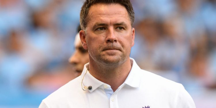 SHANGHAI, CHINA - JULY 20: Ex Newcastle and England Striker Michael Owen looks on during the Premier League Asia Trophy match between Newcastle United and West Ham United at Hongkou Football Stadium on July 20, 2019 in Shanghai, China. (Photo by Serena Taylor/Newcastle United via Getty Images)