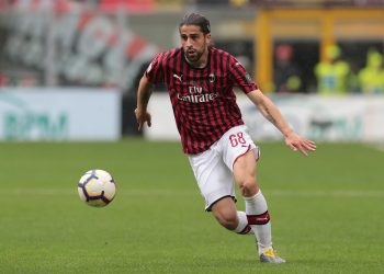 MILAN, ITALY - MAY 19:  Ricardo Rodriguez of AC Milan in action during the Serie A match between AC Milan and Frosinone Calcio at Stadio Giuseppe Meazza on May 19, 2019 in Milan, Italy.  (Photo by Emilio Andreoli/Getty Images)