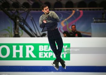 Slavik Hayrapetyan of Armenia    during Short Programme for Men at ISU European Figure Skating Championships in  Steiermarkhalle, Graz, Austria on January 22, 2020. (Photo by Ulrik Pedersen/NurPhoto via Getty Images)