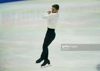 Slavik Hayrapetyan of Armenia    during Men Free Skating at ISU European Figure Skating Championships in  Steiermarkhalle, Graz, Austria on January 23, 2020. (Photo by Ulrik Pedersen/NurPhoto via Getty Images)