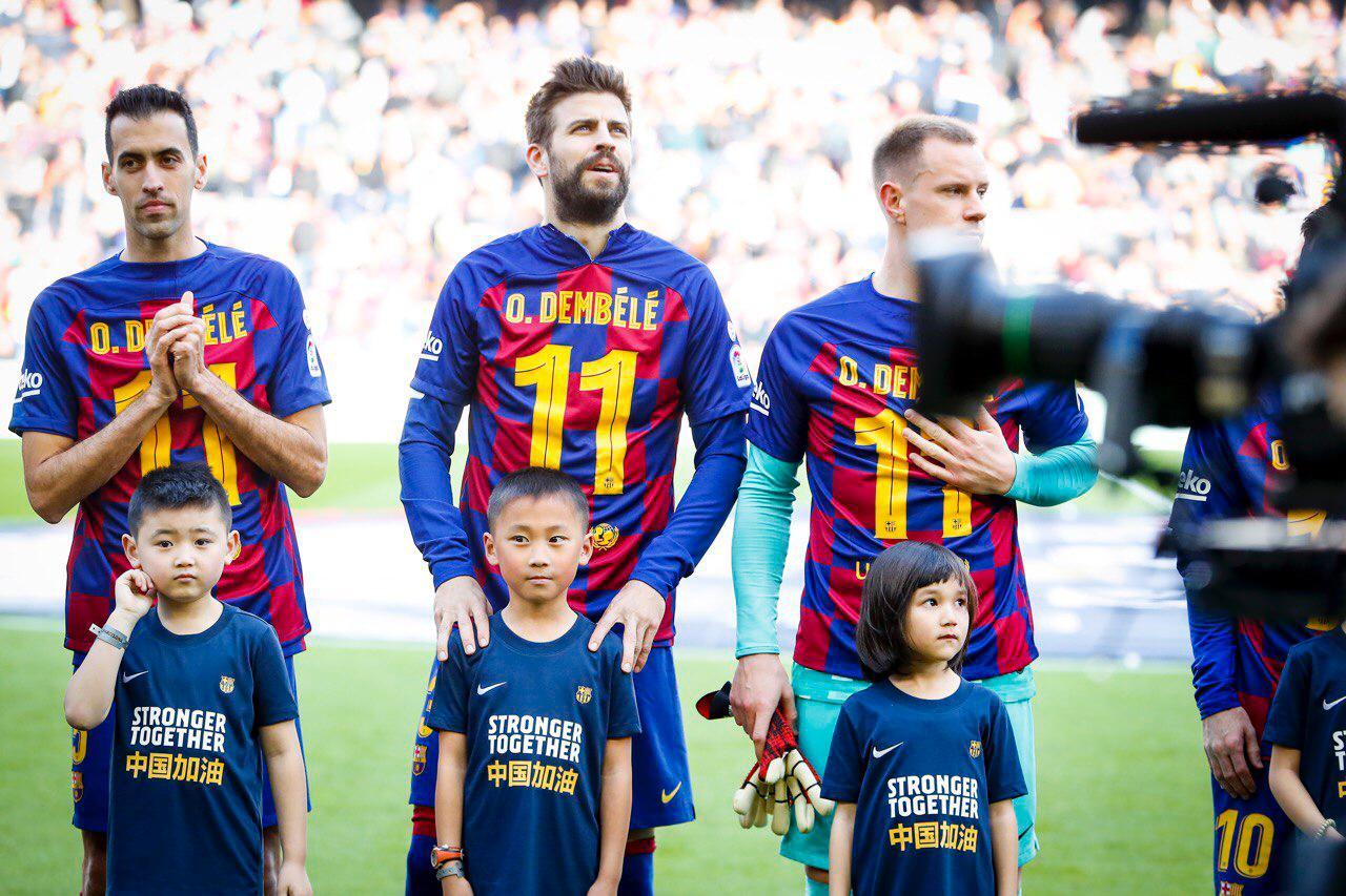 Բարսելոնայի ֆուտբոլիստները Խետաֆեի դեմ խաղից առաջ աջակցել են Ուսման Դեմբելեին (լուսանկարներ)