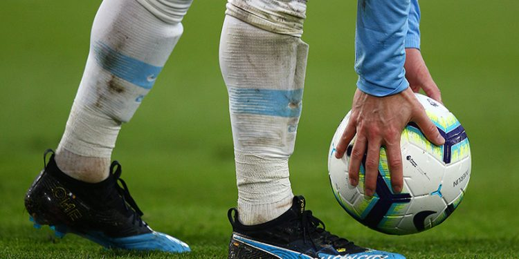 BOURNEMOUTH, ENGLAND - MARCH 02: David Silva of Manchester City in action while sporting his new Puma boots during the Premier League match between AFC Bournemouth and Manchester City at Vitality Stadium on March 2, 2019 in Bournemouth, United Kingdom. (Photo by Charlie Crowhurst/Getty Images for Puma)