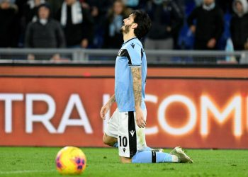 ROME, ITALY - FEBRUARY 05: Luis Alberto of SS Lazio reacts during the Serie A match between SS Lazio and Hellas Verona at Stadio Olimpico on February 05, 2020 in Rome, Italy. (Photo by Marco Rosi/Getty Images)