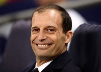 Juventus manager Massimiliano Allegri before the UEFA Champions League round of 16, second leg match at Wembley Stadium, London. PRESS ASSOCIATION Photo. Picture date: Wednesday March 7, 2018. See PA story SOCCER Tottenham. Photo credit should read: John Walton/PA Wire