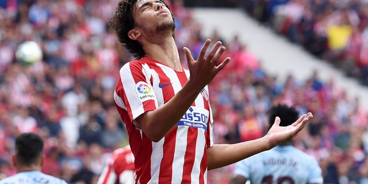 MADRID, SPAIN - SEPTEMBER 21:  Joao Felix of Atletico Madrid reacts during the Liga match between Club Atletico de Madrid and RC Celta de Vigo at Wanda Metropolitano on September 21, 2019 in Madrid, Spain. (Photo by Denis Doyle/Getty Images)
