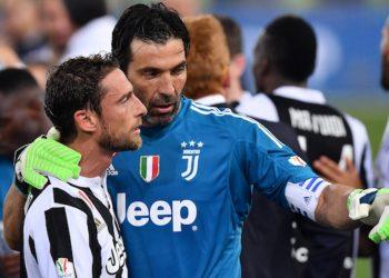As Roma 09/05/2018 - finale Coppa Italia / Juventus-Milan / foto Antonello Sammarco/Image Sport nella foto: Claudio Marchisio-Gianluigi Buffon