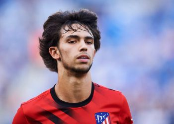 SAN SEBASTIAN, SPAIN - SEPTEMBER 14: Joao Felix of Atletico de Madrid looks on prior to the warm up during the Liga match between Real Sociedad and Club Atletico de Madrid at Estadio Reale Arena on September 14, 2019 in San Sebastian, Spain. (Photo by Juan Manuel Serrano Arce/Getty Images)