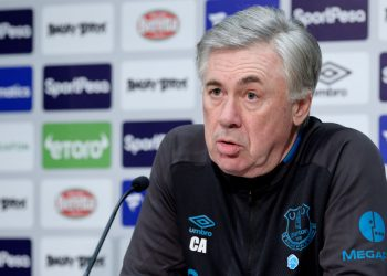 HALEWOOD, ENGLAND - FEBRUARY 7 (EXCLUSIVE COVERAGE) Carlo Ancelotti during the Everton press conference at USM Finch Farm on February 7 2020 in Halewood, England.  (Photo by Tony McArdle/Everton FC via Getty Images)