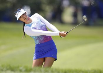 Mandatory Credit: Photo by ddp USA/REX/Shutterstock (8980475fq) Michelle Wie chips during the final round of the KPMG Women's PGA Championship golf tournament at Olympia Fields Country Club - North KPMG Women's PGA Championship golf tournament, Final Round, Olympia Fields Country Club, USA - 02 Jul 2017