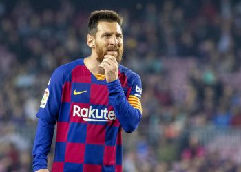 BARCELONA, SPAIN - October 29:  Lionel Messi #10 of Barcelona during the Barcelona V  Real Valladolid, La Liga regular season match at  Estadio Camp Nou on October 29th 2019 in Barcelona, Spain. (Photo by Tim Clayton/Corbis via Getty Images)