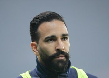 Adil RAMI (OM - Olympique de Marseille) at warm up during the UEFA Champions League, round of 16, 2nd leg football match between Paris Saint-Germain and Manchester United on March 6, 2019 at Parc des Princes stadium in Paris, France - Photo Stephane Allaman / DPPI