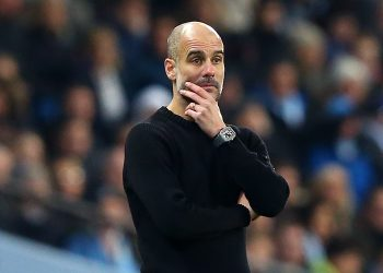 MANCHESTER, ENGLAND - DECEMBER 29: Pep Guardiola, Manager of Manchester City looks on during the Premier League match between Manchester City and Sheffield United at Etihad Stadium on December 29, 2019 in Manchester, United Kingdom. (Photo by Alex Livesey/Getty Images)