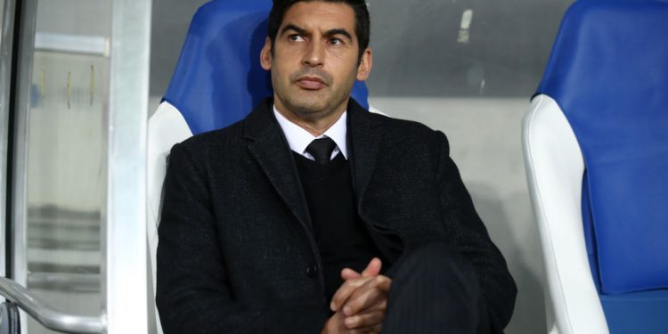 SINSHEIM, GERMANY - NOVEMBER 27:  Paulo Fonseca, Manager of Shakhtar Donetsk looks on prior to the UEFA Champions League Group F match between TSG 1899 Hoffenheim and FC Shakhtar Donetsk at Wirsol Rhein-Neckar-Arena on November 27, 2018 in Sinsheim, Germany.  (Photo by Alex Grimm/Bongarts/Getty Images,)