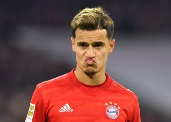 MUNICH, GERMANY - FEBRUARY 21: Philippe Coutinho of Bayern Muenchen looks on during the Bundesliga match between FC Bayern Muenchen and SC Paderborn 07 at Allianz Arena on February 21, 2020 in Munich, Germany. (Photo by Sebastian Widmann/Bongarts/Getty Images)
