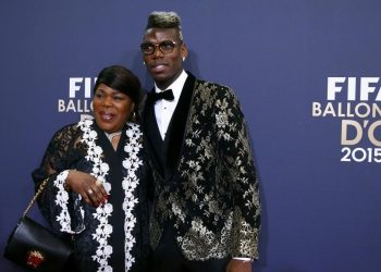 Juventus' Paul Pogba and his mother Yeo Pogba (L) arrive for the FIFA Ballon d'Or 2015 awards ceremony in Zurich, Switzerland, January 11, 2016   REUTERS/Arnd Wiegmann