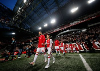 AMSTERDAM, NETHERLANDS - DECEMBER 18:  Lasse Schone of Ajax walks out to play in the Eredivisie match between Ajax Amsterdam and PSV Eindhoven held at Amsterdam Arena on December 18, 2016 in Amsterdam, Netherlands.  (Photo by Dean Mouhtaropoulos/Getty Images)