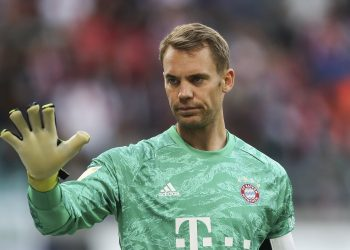 LEIPZIG, GERMANY - SEPTEMBER 14: Manuel Neuer of Bayern Munich looks on during the Bundesliga match between RB Leipzig and FC Bayern Muenchen at Red Bull Arena on September 14, 2019 in Leipzig, Germany. (Photo by Maja Hitij/Bongarts/Getty Images)