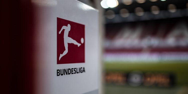 MAINZ, GERMANY - NOVEMBER 04: (EDITORS NOTE: Image has been digitally enhanced.) The Bundesliga logo is seen prior to the Bundesliga match between 1. FSV Mainz 05 and SV Werder Bremen at Opel Arena on November 4, 2018 in Mainz, Germany. (Photo by Simon Hofmann/Bundesliga/DFL via Getty Images)