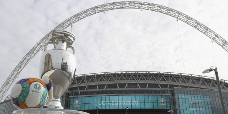 LONDON, ENGLAND - SEPTEMBER 21:  The Henri Delaunay Cup is seen at Wembley Stadium during the UEFA EURO 2020 Launch Event at City Hall on September 21, 2016 in London, England.  (Photo by Christopher Lee - UEFA/UEFA via Getty Images)