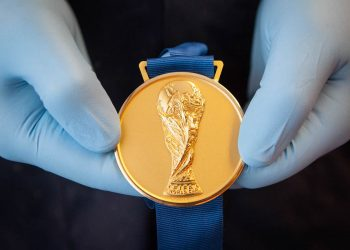 FIFA World Cup a rise to history  The FIFA World Cup Gold Medal, finally ready. Paderno Dugnano, Italy. June 2018. © Paolo Vezzoli