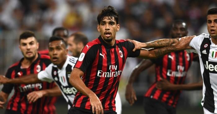 during the Italian Supercup match between Juventus and AC Milan at King Abdullah Sports City on January 16, 2019 in Jeddah, Saudi Arabia.