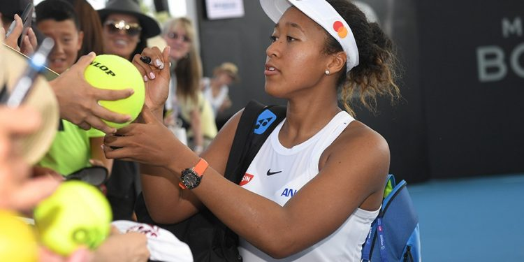 NAOMI OSAKA (JPN)   2020 BRISBANE INTERNATIONAL, PAT RAFTER ARENA, BRISBANE TENNIS CENTRE, BRISBANE, QUEENSLAND, AUSTRALIA    © TENNIS PHOTO NETWORK