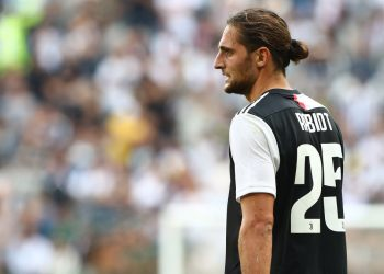 TURIN, ITALY - SEPTEMBER 28:  Adrien Rabiot of Juventus looks on during the Serie A match between Juventus and SPAL at Allianz Stadium on September 29, 2019 in Turin, Italy.  (Photo by Marco Luzzani/Getty Images)