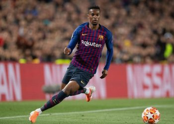 BARCELONA, SPAIN - MAY 01: Nelson Semedo of Barcelona controls the ball during the UEFA Champions League Semi Final first leg match between Barcelona and Liverpool at the Nou Camp on May 01, 2019 in Barcelona, Spain. (Photo by Matthias Hangst/Getty Images)