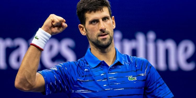 NOVAK DJOKOVIC (SRB)  TENNIS - THE US OPEN - USTA BILLIE JEAN KING TENNIS CENTRE - FLUSHING MEADOWS - NEW YORK CITY - NEW YORK - USA - ATP - WTA - ITF - GRAND SLAM - OPEN - NEW YORK - USA - 2019      © TENNIS PHOTO NETWORK