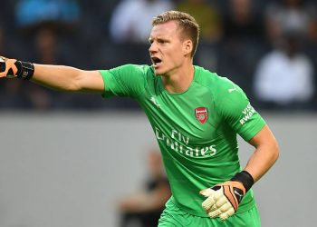 STOCKHOLM, SWEDEN - AUGUST 04:  Bernd Leno of Arsenal during the Pre-season friendly between Arsenal and SS Lazzio on August 4, 2018 in Stockholm, Sweden.  (Photo by David Price/Arsenal FC via Getty Images)