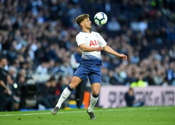 Tottenham U18 forward Maurizio Pochettino controls the ball during the Under 18 Premier League match between Tottenham Hotspur and Southampton at the Tottenham Hotspur Stadium, London on Sunday 24th March 2019. (Photo by Jon Bromley/MI News/NurPhoto via Getty Images)