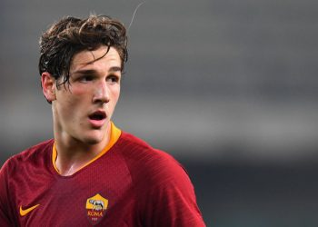 VERONA, ITALY - FEBRUARY 08:  Nicolò Zaniolo of AS Roma looks on during the Serie A match between Chievo Verona and AS Roma at Stadio Marc'Antonio Bentegodi on February 8, 2019 in Verona, Italy.  (Photo by Alessandro Sabattini/Getty Images)