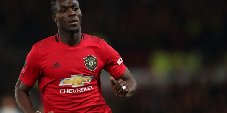 DERBY, ENGLAND - MARCH 05: Eric Bailly of Manchester United during the FA Cup Fifth Round match between Derby County and Manchester United at Pride Park on March 5, 2020 in Derby, England. (Photo by James Williamson - AMA/Getty Images)