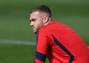 ST ALBANS, ENGLAND - AUGUST 31: Calum Chambers of Arsenal during a training session at London Colney on August 31, 2019 in St Albans, England. (Photo by Stuart MacFarlane/Arsenal FC via Getty Images)
